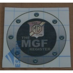 MGF Register Window Sticker